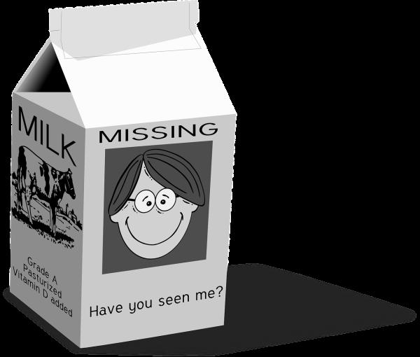 Retrieved from: https://pixabay.com/en/milk-carton-milk-missing-31473/
